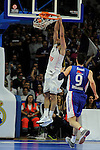 Real Madrid´s Felipe Reyes during 2014-15 Euroleague Basketball Playoffs match between Real Madrid and Anadolu Efes at Palacio de los Deportes stadium in Madrid, Spain. April 15, 2015. (ALTERPHOTOS/Luis Fernandez)