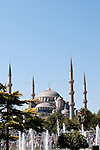 Blue Mosque Blue Sky 02 - The Blue Mosque from Sultanahmet Park, Sultanahmet, Istanbul, Turkey