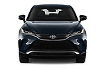 Car photography straight front view of a 2021 Toyota Venza Limited 5 Door SUV Front View