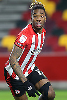 Ivan Toney of Brentford turns away to celebrate after scoring their second goal during Brentford vs Bristol City, Sky Bet EFL Championship Football at the Brentford Community Stadium on 3rd February 2021