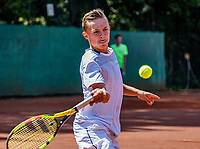 Hilversum, Netherlands, Juli 29, 2019, Tulip Tennis center, National Junior Tennis Championships 12 and 14 years, NJK, Kyvan Rietkerk (NED)<br /> Photo: Tennisimages/Henk Koster
