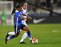 Frisco, TX. - February 15, 2016: The U.S. Women's National team takes 5-0 lead over Puerto Rico in second half action in CONCACAF Women's Olympic Qualifying at Toyota Stadium.