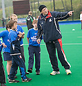 PUPILS FROM FLORA STEVENSON PRIMARY ARE COACH BY THE FRENCH AS THEY TAKE PART IN THE TOUCH WORLD CUP YOUTH FESTIVAL AT PEFFERMILL.