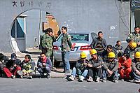 Operarios de construção em Pequim. China. 2011. Foto de Flávio Bacellar.