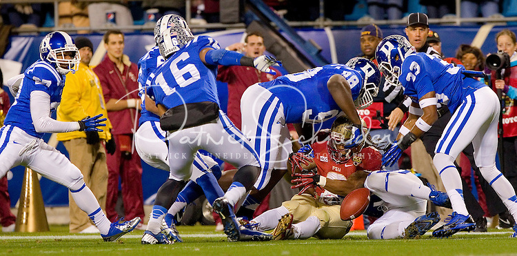 Florida State Seminoles vs the Duke Blue Devils during the 2013 ACC Championship game at Bank of America Stadium in Charlotte, North Carolina.<br /> <br /> Charlotte Photographer - PatrickSchneiderPhoto.com
