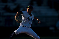 Everett AquaSox relief pitcher Jorge Benitez (8) delivers a pitch during a Northwest League game against the Tri-City Dust Devils at Everett Memorial Stadium on September 3, 2018 in Everett, Washington. The Everett AquaSox defeated the Tri-City Dust Devils by a score of 8-3. (Zachary Lucy/Four Seam Images)