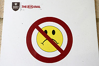 General view of a warning sign ahead of Surrey vs Essex Eagles, Royal London One-Day Cup Cricket at the Kia Oval on 23rd April 2019