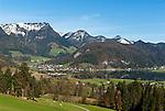 Austria, Tyrol, Kaiserwinkl, Walchsee: holiday resort at Lake Walchsee | Oesterreich, Tirol, Kaiserwinkl, Walchsee: Ort und gleichnamiger See, Ferienregion am Zahmen Kaiser
