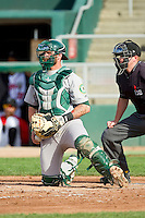 Beloit Snappers catcher Nick Rickles (6) on defense against the Lansing Lugnuts at Cooley Law School Stadium on May 5, 2013 in Lansing, Michigan.  The Lugnuts defeated the Snappers 5-4.  (Brian Westerholt/Four Seam Images)