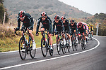 Chris Froome (GBR) and Ineos Grenadiers chase the breakaway during Stage 7 of the Vuelta Espana 2020 running 159.7km from Vitoria-Gasteiz to Villanueva de Valdegovia, Spain. 27th October 2020.   <br /> Picture: Unipublic/Charly Lopez | Cyclefile<br /> <br /> All photos usage must carry mandatory copyright credit (© Cyclefile | Unipublic/Charly Lopez)