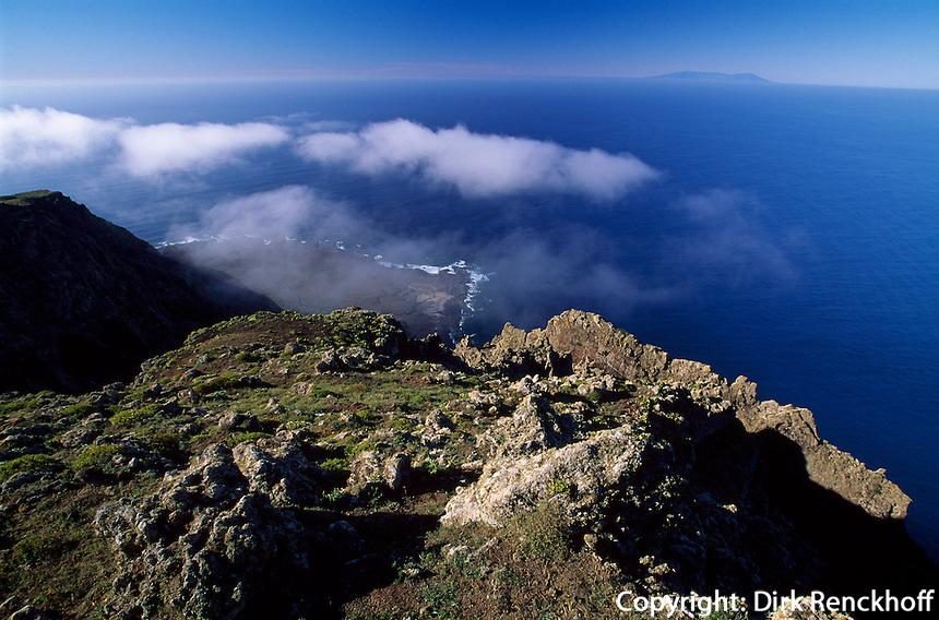 Blick vom Mirador de Bascos = Mirador de El Rincon, El Hierro, Kanarische Inseln, Spanien