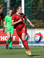 Robine Lacroix (6) of the Netherlands in action during an international friendly female soccer game between the national teams of Belgium , called the Red Flames U17 and the Netherlands on Wednesday 8th of September 2020  in Kalmthout , Belgium . PHOTO SPORTPIX.BE | SPP | SEVIL OKTEM