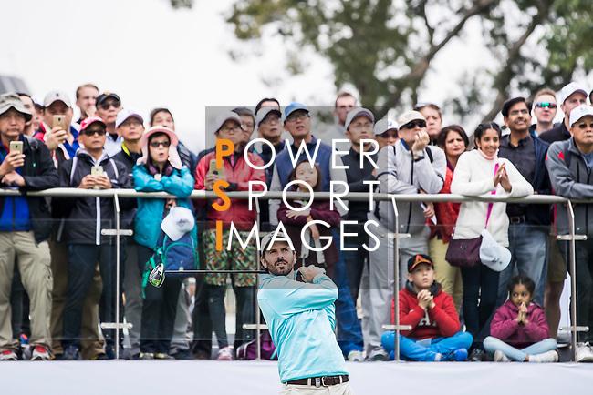 Thomas Aiken of South Africa tees off during the day three of UBS Hong Kong Open 2017 at the Hong Kong Golf Club on 25 November 2017, in Hong Kong, Hong Kong. Photo by Yu Chun Christopher Wong / Power Sport Images