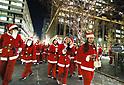 Tokyo Marunouchi Christmas Parade with 300 Santas