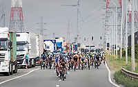 racing through the Antwerp Harbour<br /> <br /> Antwerp Port Epic / Sels Trophy 2021 (BEL)<br /> One day race from Antwerp to Antwerp (183km)<br /> <br /> The APC stands qualified as a 'road race', but with 36km of gravel and 28km of cobbled sections in and around the Port of Antwerp (BEL) this race occupies a unique spot in the Belgian race scene.<br /> <br /> ©kramon
