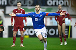 Aberdeen v St Johnstone…08.12.18…   Pittodrie    SPFL<br />Joe Shaughnessy celebrates his goal<br />Picture by Graeme Hart. <br />Copyright Perthshire Picture Agency<br />Tel: 01738 623350  Mobile: 07990 594431