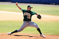 North Dakota State Bisons Kyle Kingsley #29 during a game vs Bradley Braves at Chain of Lakes Park in Winter Haven, Florida;  March 17, 2011.  Bradley defeated North Dakota State 6-5.  Photo By Mike Janes/Four Seam Images