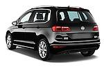 Car pictures of rear three quarter view of a 2014 Volkswagen GOLF SPORTSVAN Highline 5 Door Mini MPV 2WD Angular Rear