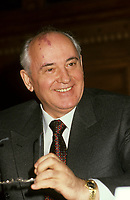 Montreal (Qc) CANADA - File Photo - March 27 1993- Mikhail Gorbachev<br /> <br /> PHOTO :  Agence Quebec Presse