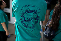 """The group t-shirt is seen during """"Circle the City with Service,"""" the Kiwanis Circle K International's 2015 Large Scale Service Project, on Wednesday, June 24, 2015, at the Friendship Westside Center for Excellence in Indianapolis. (Photo by James Brosher)"""