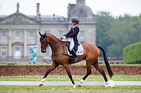 GBR-Rosalind Canter rides Izilot DHI during the Dressage for the CCIL 2* Section C. Interim-1st. 2021 GBR-Saracen Horse Feeds Houghton International Horse Trials. Hougton Hall. Norfolk. England. Friday 28 May 2021. Copyright Photo: Libby Law Photography