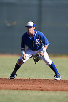 Kansas City Royals shortstop Corey Toups (29) during an Instructional League game against the Cincinnati Reds on October 16, 2014 at Goodyear Training Facility in Goodyear, Arizona.  (Mike Janes/Four Seam Images)