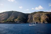 A sailboat makes its way towards Positano, Italy on Sunday, Sept. 20, 2015. (Photo by James Brosher)