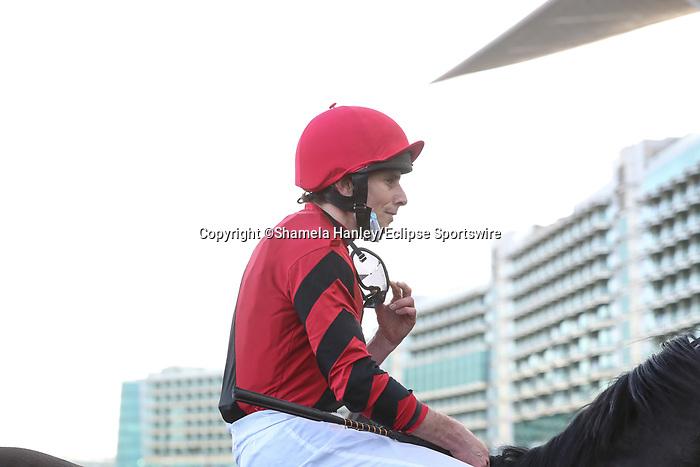 March 27, 2021: EXTRAVAGANT KID #2 ridden by jockey Joe Fanning wins the Al Quoz sprint for trainer Brendan P Walsh on Dubai World Cup Day, Meydan Racecourse, Dubai, UAE. Shamela Hanley/Eclipse Sportswire/CSM