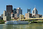 The Majestic Riverboat at the 9th Street Bridge, Pittsburgh, Pennsylvania