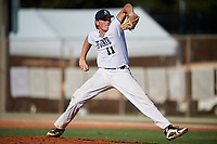 Jack Scanlon during the WWBA World Championship at the Roger Dean Complex on October 19, 2018 in Jupiter, Florida.  Jack Scanlon is a catcher / right handed pitcher from Sloatsburg, New York who attends Suffern Senior High School and is committed to Texas Tech.  (Mike Janes/Four Seam Images)