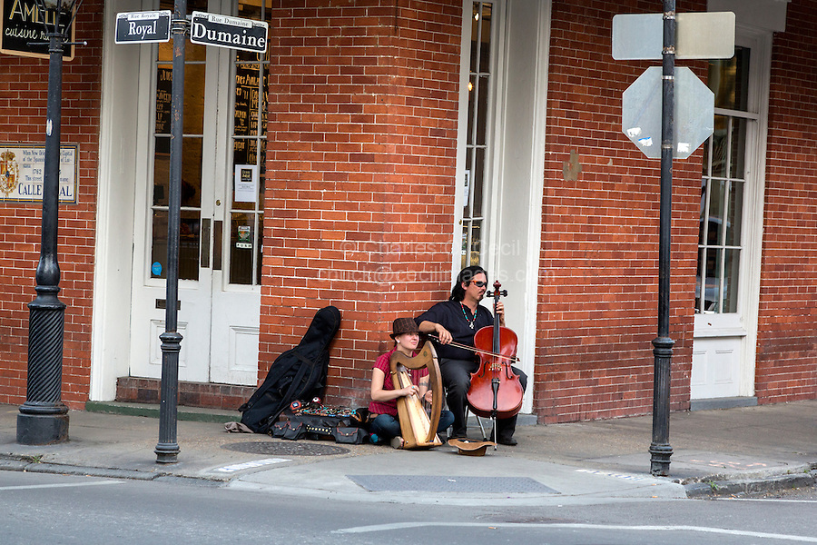 French Quarter, New Orleans, Louisiana.  Street Performers.