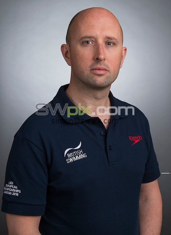 Picture by Alex Broadway/SWpix.com - 23/05/2016 - Swimming - Great Britain Olympic Swimming Squad Portraits - Holiday Inn Stratford, London, England - Karl Cooke.