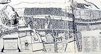 Edinburgh: The Old City, 1647, Plan. Gutkind VI, 306-307. Note: gardens within walls.