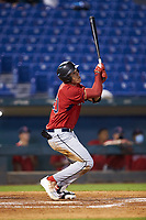 Joshua Baez (20) of Dexter Southfield HS in Boston, MA playing for the Boston Red Sox scout team during the East Coast Pro Showcase at the Hoover Met Complex on August 2, 2020 in Hoover, AL. (Brian Westerholt/Four Seam Images)