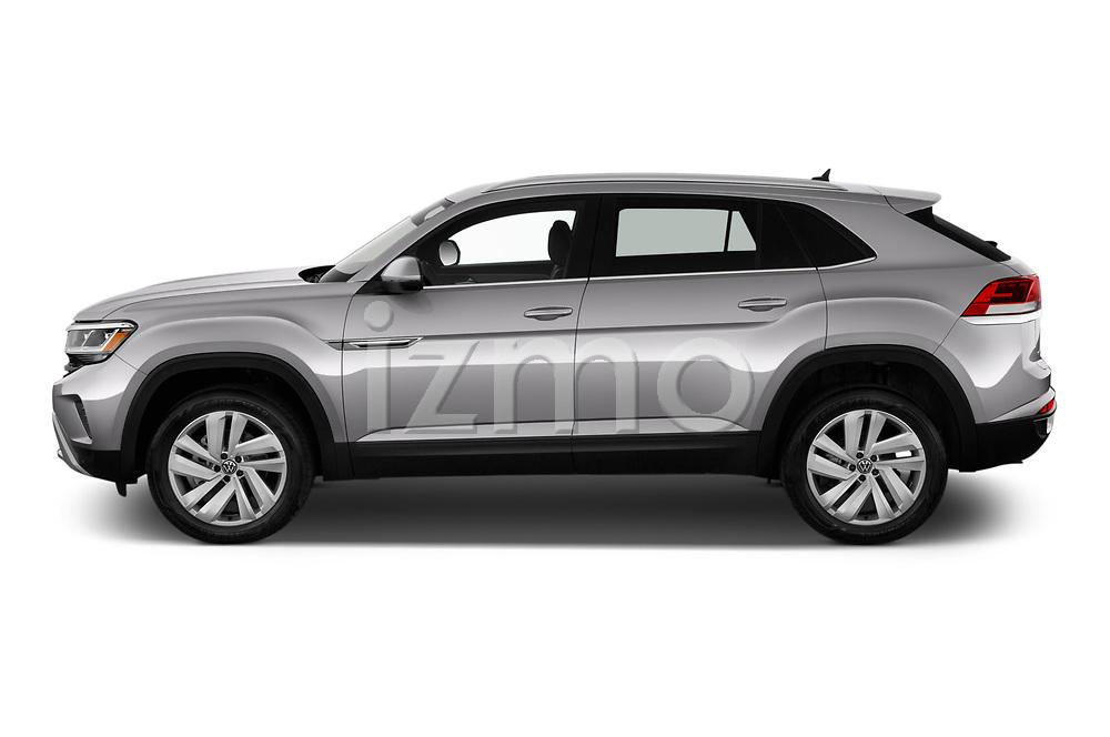 Car Driver side profile view of a 2020 Volkswagen Atlas-Cross-Sport SE-w/Tech 5 Door SUV Side View
