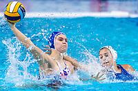 5 SVK JUNASOVA Emma Slovakia<br />  <br /> Budapest 15/01/2020 Duna Arena <br /> Greece (white caps) Vs. Slovakia (blue caps) Women<br /> XXXIV LEN European Water Polo Championships 2020<br /> Photo  ©Giorgio Scala / Deepbluemedia / Insidefoto