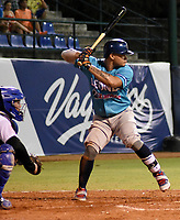 MONTERIA - COLOMBIA, 19-11-2019: Vaqueros de Montería y Leones de Santa Marta en el juego 2 de la serie 3 de la Liga Profesional de Béisbol Colombiano temporada 2019-2020 jugado en el estadio estadio Dieciocho de Junio de la ciudad de Montería. Victoria para Leones por marcador de 6-1. / Vaqueros de Monteria and Leones de Santa Marta in match 2 series 3 as part Colombian Baseball Professional League season 2019-2020 played at Baseball Stadium on June 18 in Monteria city. Victory to Leones by score of 6-1, Photo: VizzorImage / Andres Felipe Lopez / Cont