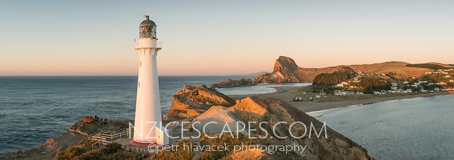 Castlepoint Lighthouse, Hawke's Bay, North Island, New Zealand, NZ