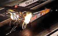 May 29, 2009; Topeka, KS, USA: NHRA top fuel dragster driver Cory McClenathan launches off the starting line during qualifying for the Summer Nationals at Heartland Park Topeka. Mandatory Credit: Mark J. Rebilas-