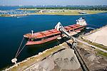 CSL Sheila Ann discharging bulk materials at Martin Marietta Bulk Materials Facility - Tampa Bay