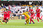 Jamie Maclaren of Australia (3rd R) fights for the ball with Anas Bani-Yaseen of Jordan (L) during the AFC Asian Cup UAE 2019 Group B match between Australia (AUS) and Jordan (JOR) at Hazza Bin Zayed Stadium on 06 January 2019 in Al Ain, United Arab Emirates. Photo by Marcio Rodrigo Machado / Power Sport Images