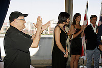 Montreal (Qc) Canada - Aug 31 2010 - Serge Losique applaud The jury of  the 2010 World Film Festival : PrÈsident : BILLE AUGUST, rÈalisateur (Danemark)<br /> IR??NE BIGNARDI, journaliste et directrice de festivals (Italie)<br /> ANNE-MARIE CADIEUX, actrice (Canada)<br /> MARWAN HAMED, rÈalisateur (…gypte)<br /> IGOR MINAEV, rÈalisateur (Ukraine-France)<br /> …DOUARD MOLINARO, rÈalisateur (France)<br /> LIJUNG TANG, directrice de festivals (Chine)