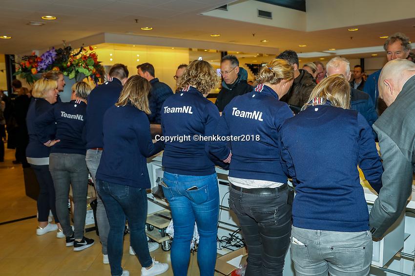 Nieuwegein,  Netherlands, 24 November 2018, KNLTB Year congress KNLTB, instroom<br /> Photo: Tennisimages.com/Henk Koster