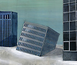 Conceptual image of collapsed building depicting business depression