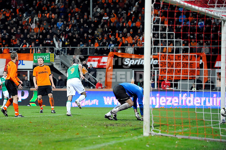 voetbal hhc hardenberg - feyenoord knvb beker seizoen 2008-2009 13-11-2008 makaay heeft 1-2 gescoort.