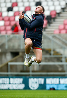 Thursday 7th October 2021<br /> <br /> Ben Moxham during Ulster Rugby Captain's Run held at Kingspan Stadium, Ravenhill Park, Belfast, Northern Ireland. Photo by John Dickson/Dicksondigital