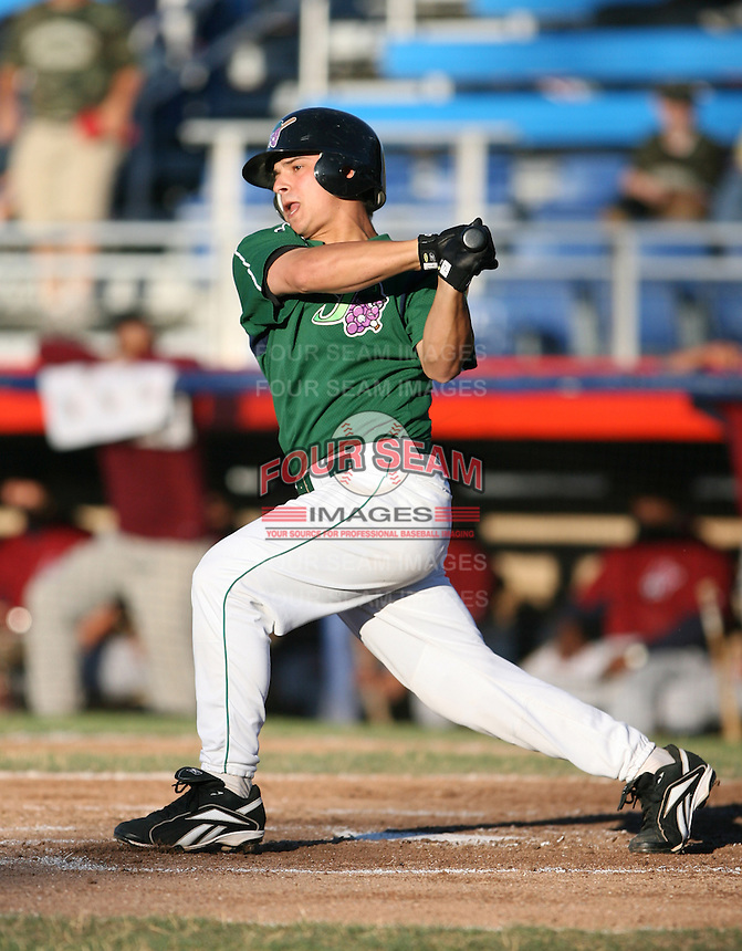 Torre Langley of the Jamestown Jammers, Class-A affiliate of the Florida Marlins, during New York-Penn League baseball action.  Photo by Mike Janes/Four Seam Images