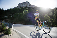 Robert Gesink (NLD/LottoNL-Jumbo) coming down the Coll de Rates (Alicante, Spain) <br /> <br /> January 2016 Training Camps