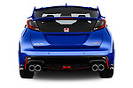 Straight rear view of 2015 Honda Civic Type-R 5 Door Hatchback Rear View  stock images