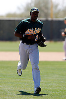 Todd Johnson - Oakland Athletics - 2009 spring training.Photo by:  Bill Mitchell/Four Seam Images